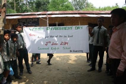 World Environment Day at Covenant School, B. Huonveng, Tipaimukh Sub-Division, Churachandpur district, Manipur