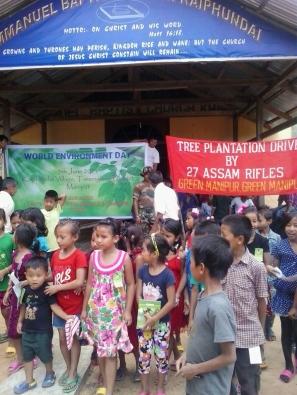 World Environment Day at Emmanuel Baptist Church, Kaiphundai, Tousem Sub-Division, Tamenglong district, Manipur